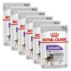 Royal Canin Sterilised Dog Loaf pliculeț cu pate pentru câini castrați 6 x 85 g, 5+1 GRATUIT