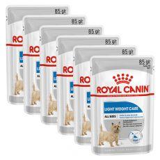 Royal Canin Light Weight Care Dog Loaf pliculeț dietetic cu pate pentru câini 6 x 85 g, 5+1 GRATUIT