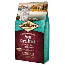 Brit CARNILOVE Carp proaspăt și păstrăv sterilizat Adult Cat 2 kg