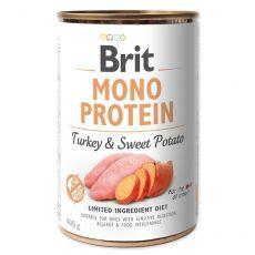 Conservă Brit Mono Protein Turkey & Sweet Potato, 400 g