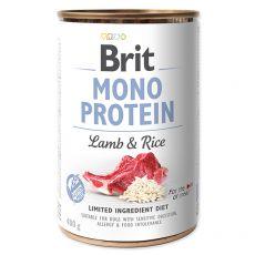 Conservă Brit Mono Protein Lamb & Rice, 400 g