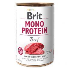 Conservă Brit Mono Protein Beef, 400 g