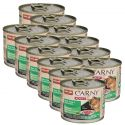 Hrană CARNY ADULT cu carne de vită, curcan şi carne de iepure 12 x 200 g