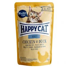 Happy Cat ALL MEAT Adult hrană la plic Chicken & Duck 85 g