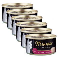 Conservă Miamor File pui și șuncă 6 x 100 g