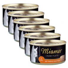 Conservă Miamor File pui și ouă de prepeliță 6 x 100 g