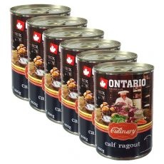 Conservă ONTARIO Culinary Calf Ragout with Duck 6 x 400 g