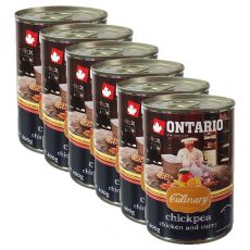 Conservă ONTARIO Culinary Chickpea, Chicken and Curry 6 x 400 g