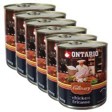 Conservă ONTARIO Culinary Chicken Fricasse 6 x 800 g