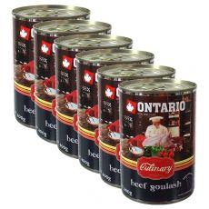 Conservă ONTARIO Culinary Beef Goulash 6 x 400 g