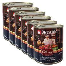 Conservă ONTARIO Culinary Minestrone Chicken and Pork 6 x 800 g