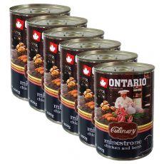 Conservă ONTARIO Culinary Minestrone Chicken and Lamb 6 x 400 g