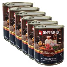 Conservă ONTARIO Culinary Minestrone Chicken and Lamb 6 x 800 g