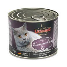 Conservă pentru pisici Leonardo - cu carne de iepure 200 g