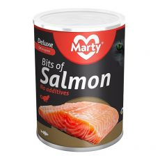 Conservă pentru pisici MARTY Deluxe Bits of Salmon 400 g
