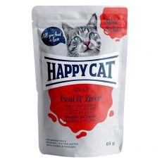 Happy Cat MEAT IN SAUCE Adult Veal & Liver alutasakos eledel 85 g