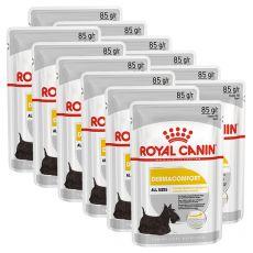 Royal Canin Dermacomfort Dog Loaf pliculeț cu pateu pentru câini cu probleme de piele 12 x 85 g