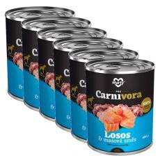 MARTY ProCarnivora Salmon & Meat Cocktail - conservă cu somon & cocktail de carne 6 x 800 g
