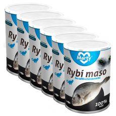 Conservă pentru pisici MARTY Premium Fish 6 x 400 g