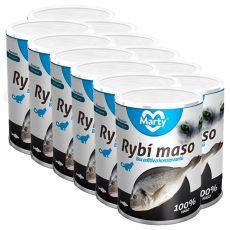 Conservă pentru pisici MARTY Premium Fish 12 x 400 g