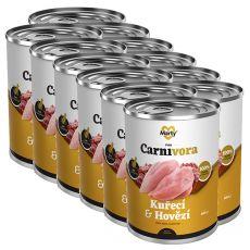Conservă pentru pisici MARTY ProCarnivora Chicken & Beef 12 x 400 g