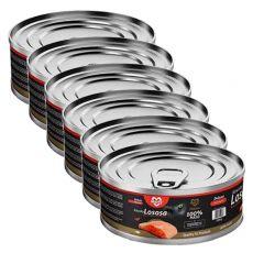 Conservă pentru pisici MARTY Deluxe Bits of Salmon 6 x 100 g