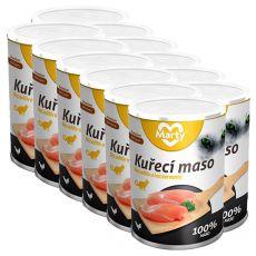 Conservă pentru pisici MARTY Premium Chicken 12 x 400 g