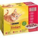 Friskies hrană pentru pisici la plic - pui, vită, miel și rață în sos 12 x 85 g