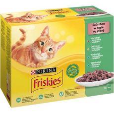 Friskies hrană pentru pisici la plic  - carne de vită, pui, ton și cod în sos 12 x 85 g