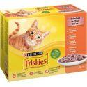Friskies hrană pentru pisici la plic - pui, rață, somon și curcan în sos 12 x 85 g