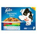 Hrană la plic pentru pisici Felix Fantastic Duo selecție de legume delicioase în aspic 400 g