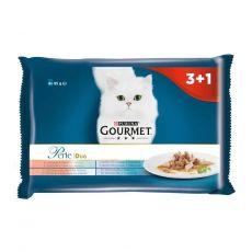 Gourmet Perle Duo hrană la plic pentru pisici, amestec de peşte 4 x 85 g
