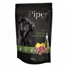 Piper Adult hrană la plic cu carne de vânat și dovleac 500 g