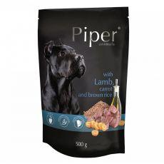 Piper Adult hrană la plic cu miel, morcovi și orez brun 500 g