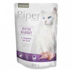 Piper Cat Sterilised hrană la plic cu carne de iepure 100 g