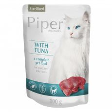 Piper Cat Sterilised hrană la plic cu peşte ton 100 g