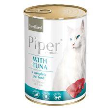 Piper Cat Sterilised conservă pentru pisici cu peşte ton 400 g