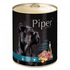 Piper Adult conservă pentru câini cu miel, morcovi și orez brun 800 g