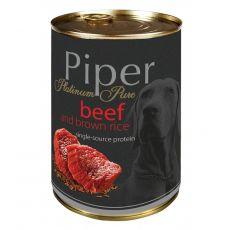 Piper Platinum Pure conservă cu carne de vită şi orez brun 400 g