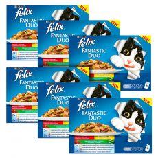 Hrană la plic pentru pisici Felix Fantastic Duo selecție de legume delicioase în aspic 6 x 400 g
