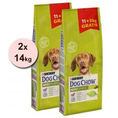 PURINA DOG CHOW ADULT Lamb 2 x 11 + 6 kg GRATUIT