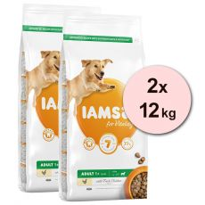 Iams Dog Adult Large Breed, Chicken 2 x 12 kg