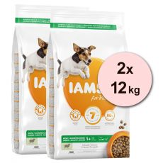 Iams Dog Adult Small Medium, Lamb 2 x 12 kg