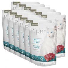 Piper Cat Sterilised hrană la plic cu peşte ton 12 x 100 g
