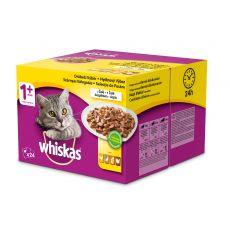 Whiskas pliculeț selecție carne în gelatină 24 x 100g