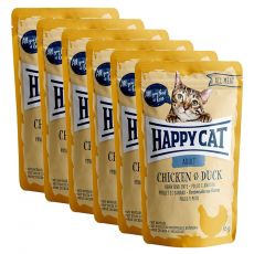 Happy Cat ALL MEAT Adult hrană la plic Chicken & Duck 6 x 85 g