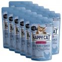 Pliculeț Happy Cat ALL MEAT Adult Sterilised pui & Păstrăv 12 x 85 g