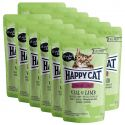 Pliculeț Happy Cat ALL MEAT Adult Sterilised Vițe & miel 12 x 85 g