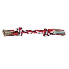 Jucărie câine - coardă de bumbac, cu nod - 37 cm