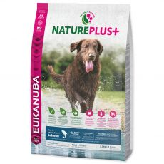 Eukanuba Nature Plus+ Adult Large Breed Rich îmbogățit în somon proaspăt congelat 2,3 kg